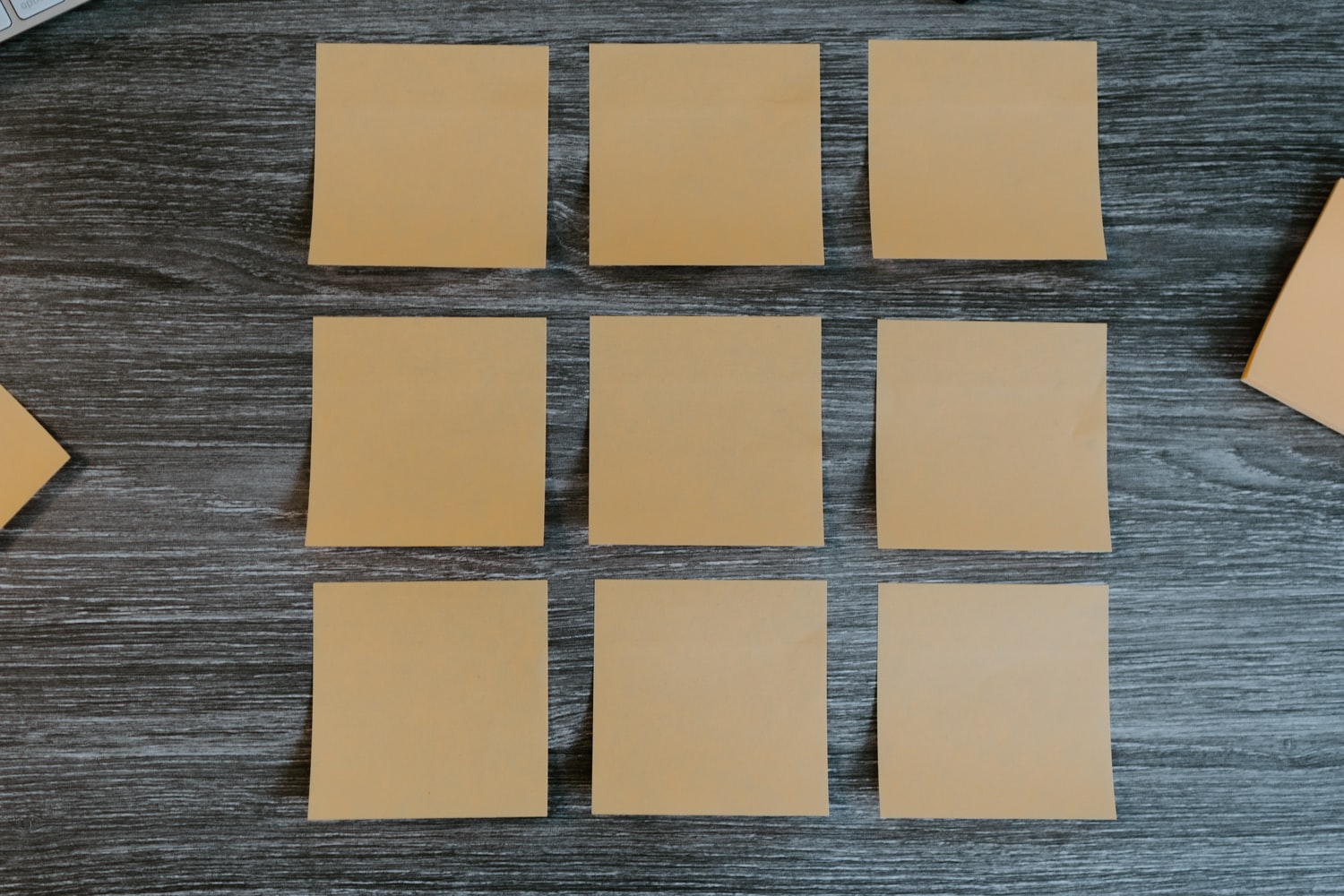 Leere Post-its